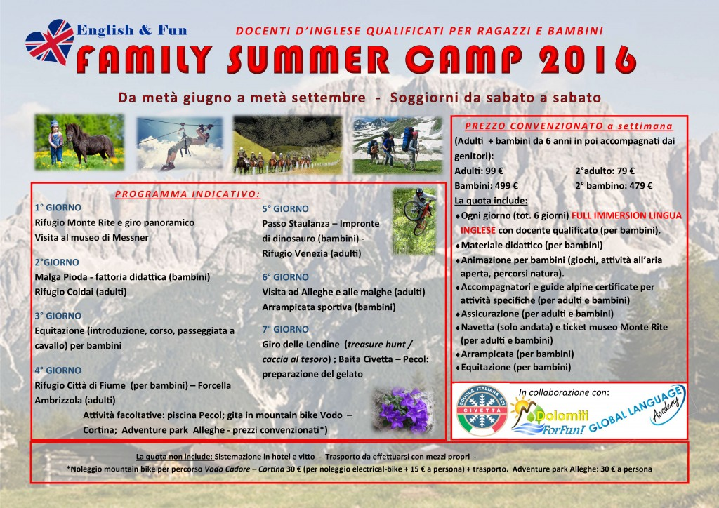 Summer camp 2016 flyer per hotel.pub